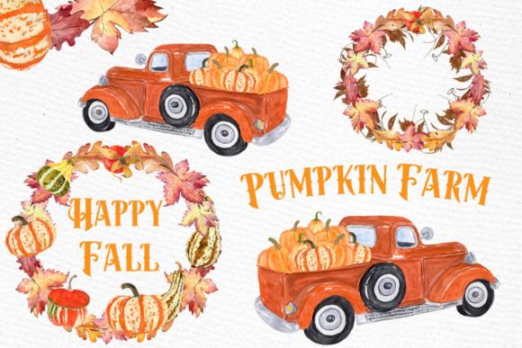 Pumpkin farm . Harvest clipart truck