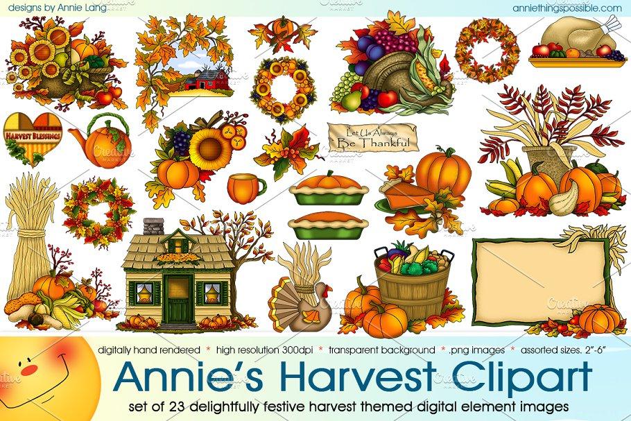 Annie s . Harvest clipart whimsical