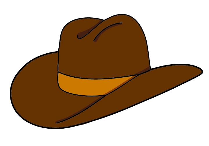 Clipart hat. Cowboy clip art panda