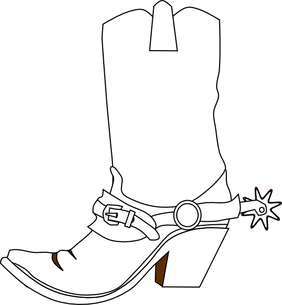 Cowboy clip art vector. Hat clipart boot