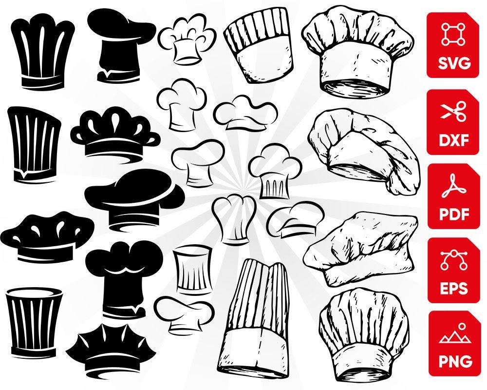 Chef svg bundle cooking. Hat clipart kitchen