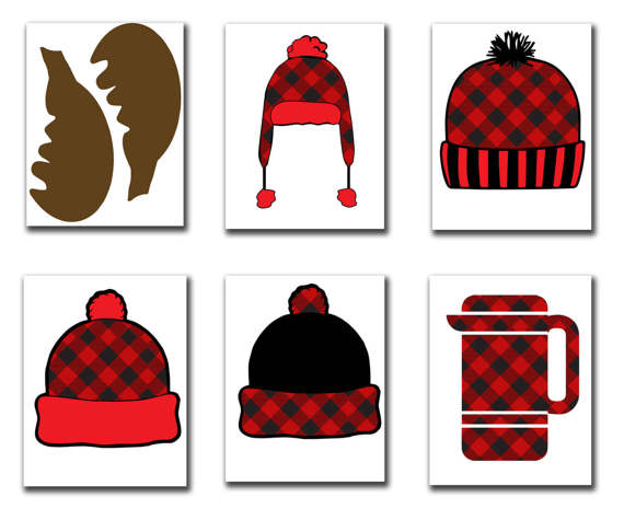 Lumberjack clipart hat. Photo booth props party