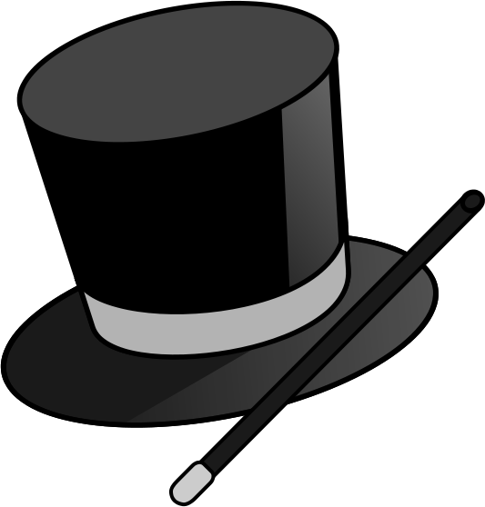 Hat clipart magicians. Magic show the