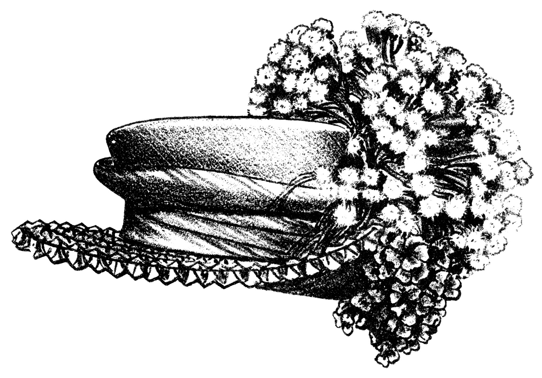 Victorian ladies hats free. Hat clipart old fashioned