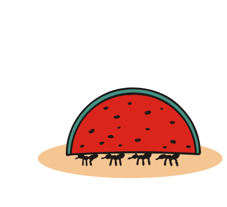 Management reporter be careful. Watermelon clipart ant