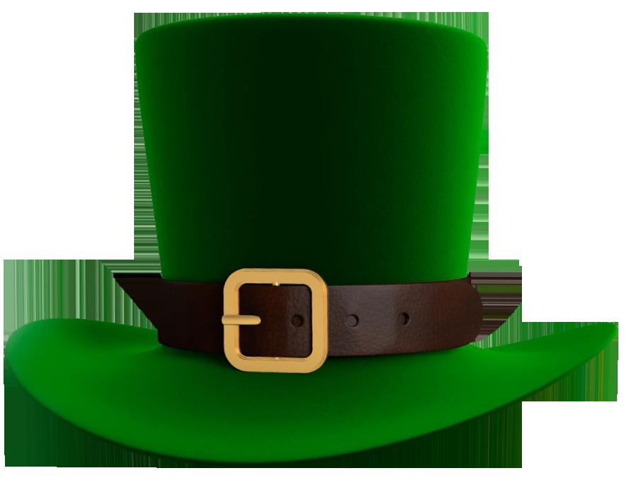 Patrick green leprechaun png. Hat clipart st patrick's day