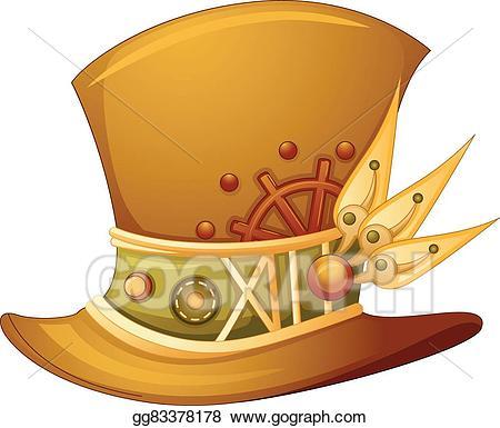 Vector stock illustration . Steampunk clipart hat