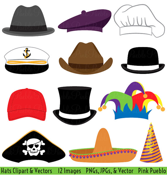 Hats clipart. Clip art party hat