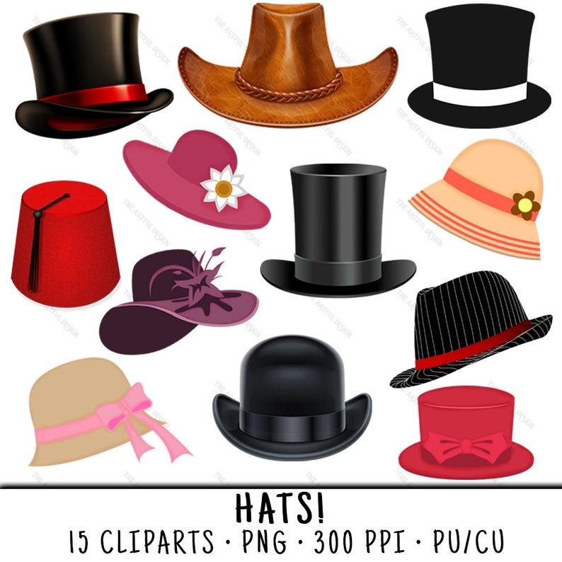 Hats clipart. Hat clip art png