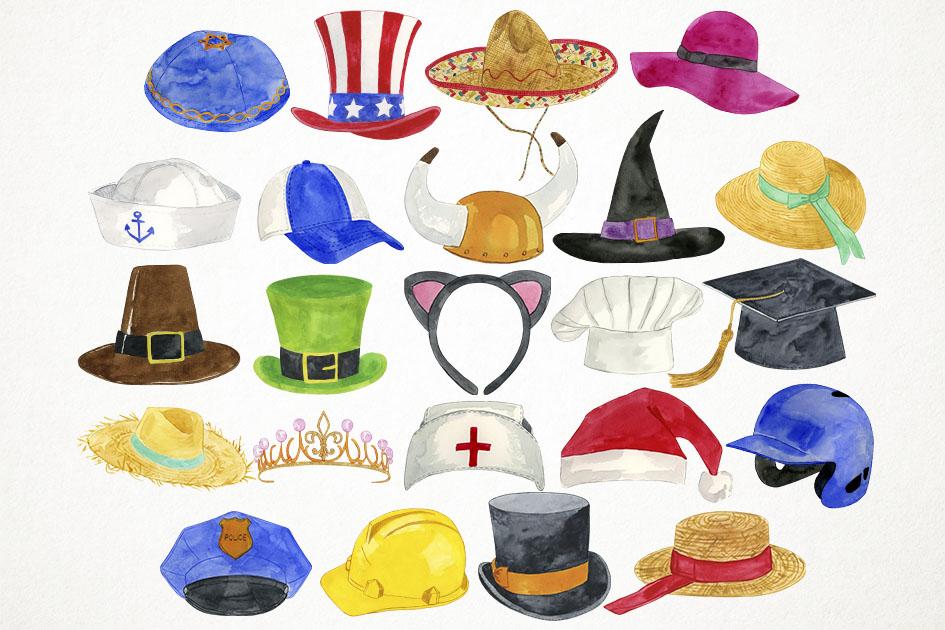 Clip art costumes caps. Hats clipart