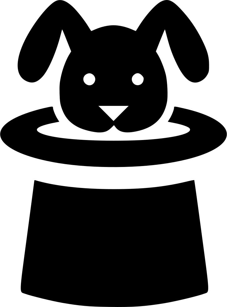 Hat bunny trick svg. Magic clipart magic cap