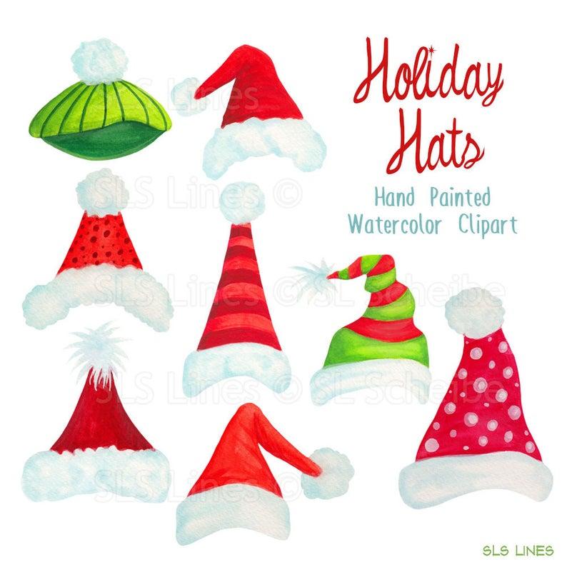 Santa hat holiday graphics. Hats clipart christmas