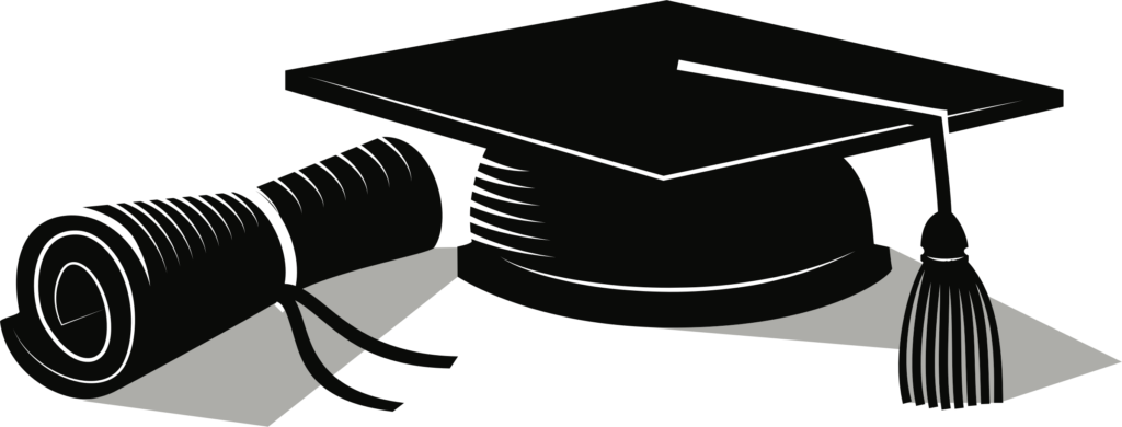 Hats clipart education. College diploma hat of