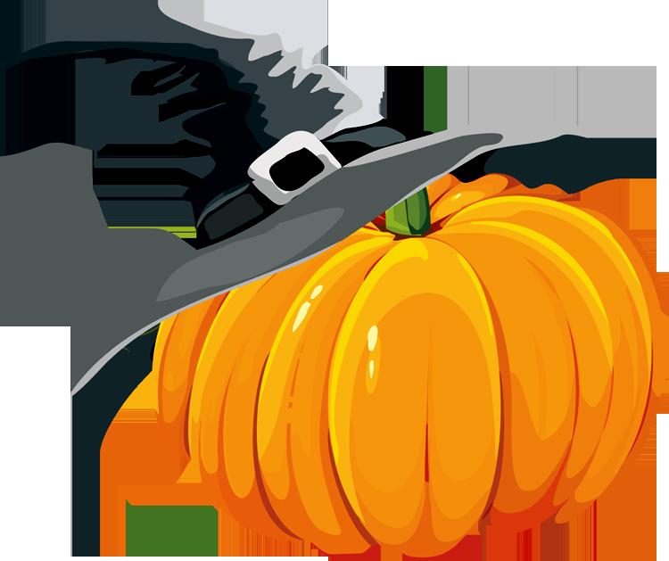 . Witch clipart pumpkin