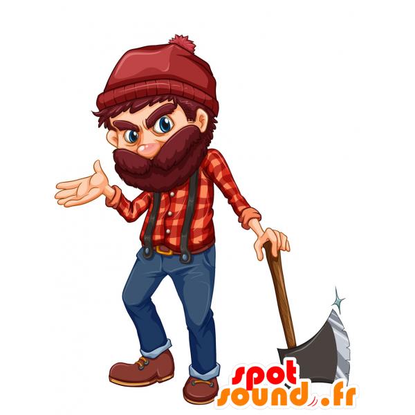Purchase mascot bearded evil. Lumberjack clipart lumberjack beard