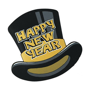 Hats clipart new year's. Years top hat clip