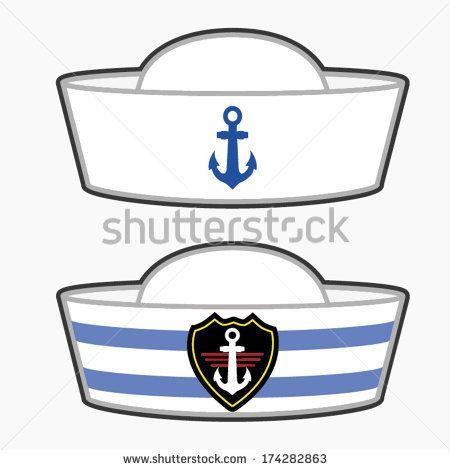 Sailor hat vector illustration. Hats clipart sailor's