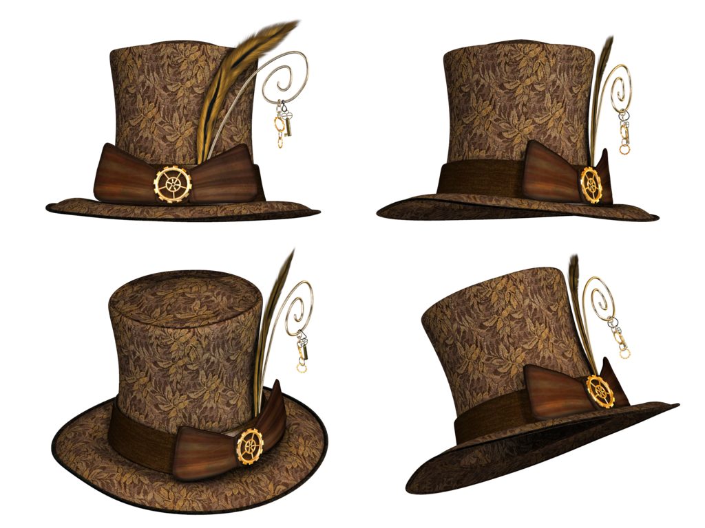 Collection png stock by. Steampunk clipart steampunk top hat