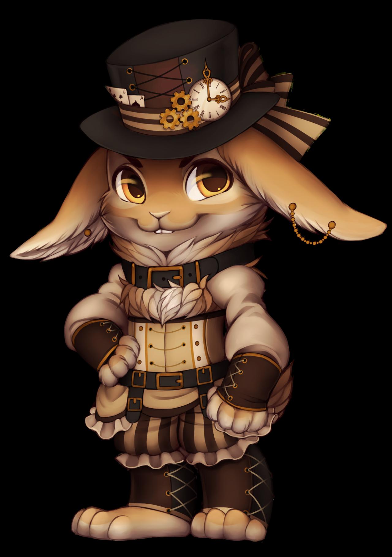 Image rabbit png furvilla. Steampunk clipart hat