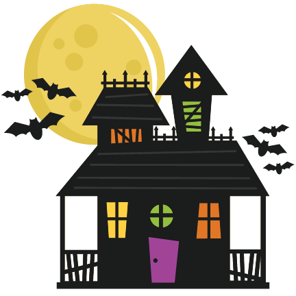 Haunted house png. Svg cut file for