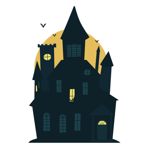 Scary halloween transparent svg. Haunted house png