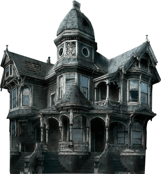 Transparent background . Haunted house png