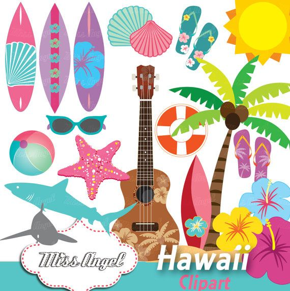 Surf clip art summer. Hawaii clipart