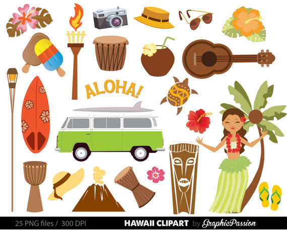 Hawaii clipart. Hawaiian luau party clip