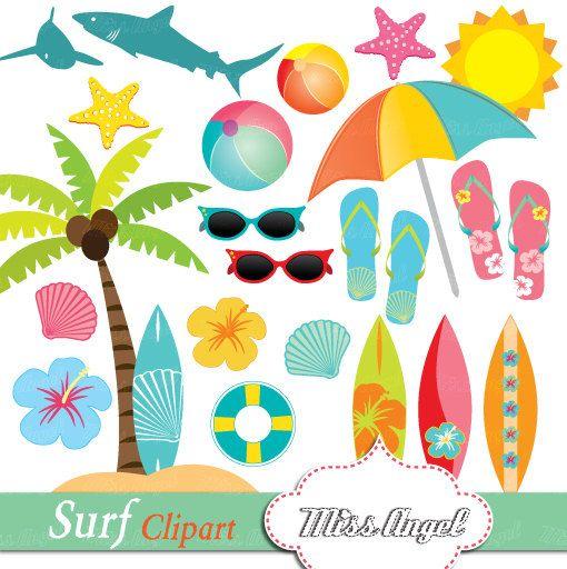 Hawaiian clipart surfer hawaiian. Hawaii surf summer beach