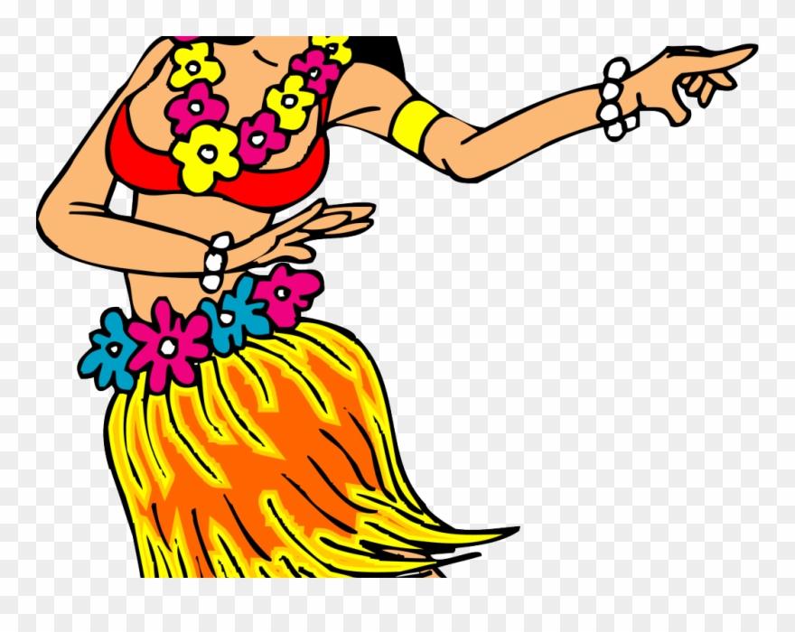 Hawaii clipart cartoon. Minnie hula girl clip