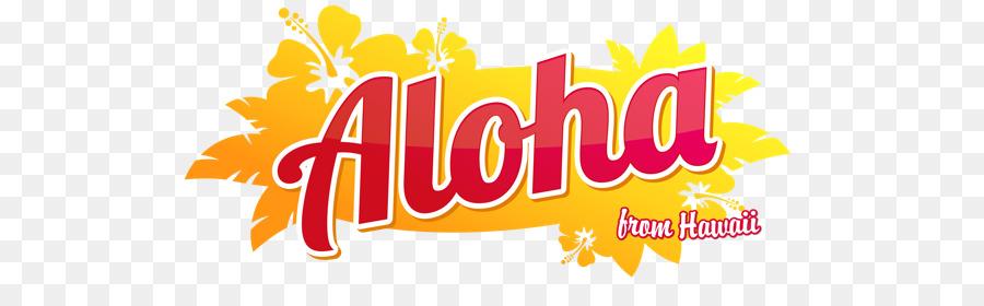 Hawaiian clipart aloha word. Background text yellow font