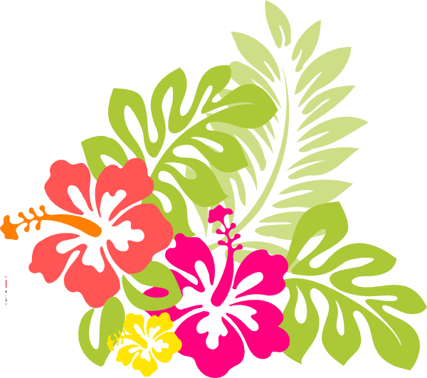 Flowers from the exotic. Watermelon clipart luau hawaii