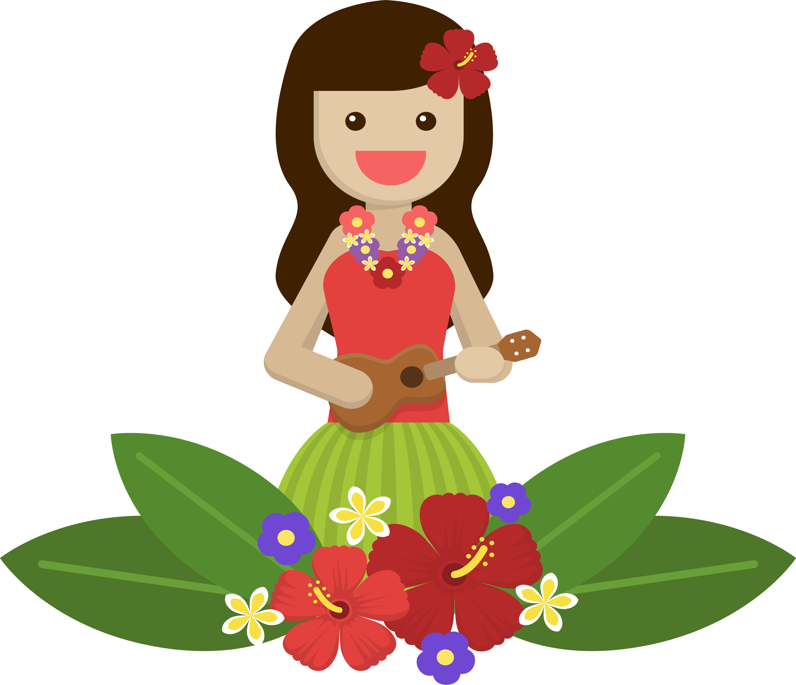 Icon island girl transprent. Mango clipart pineapple hawaii