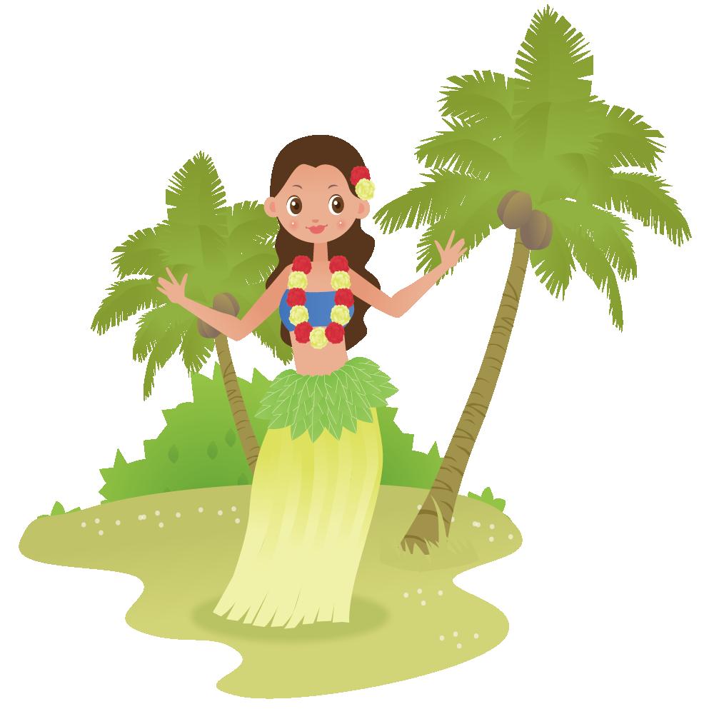 Hawaii hula girl