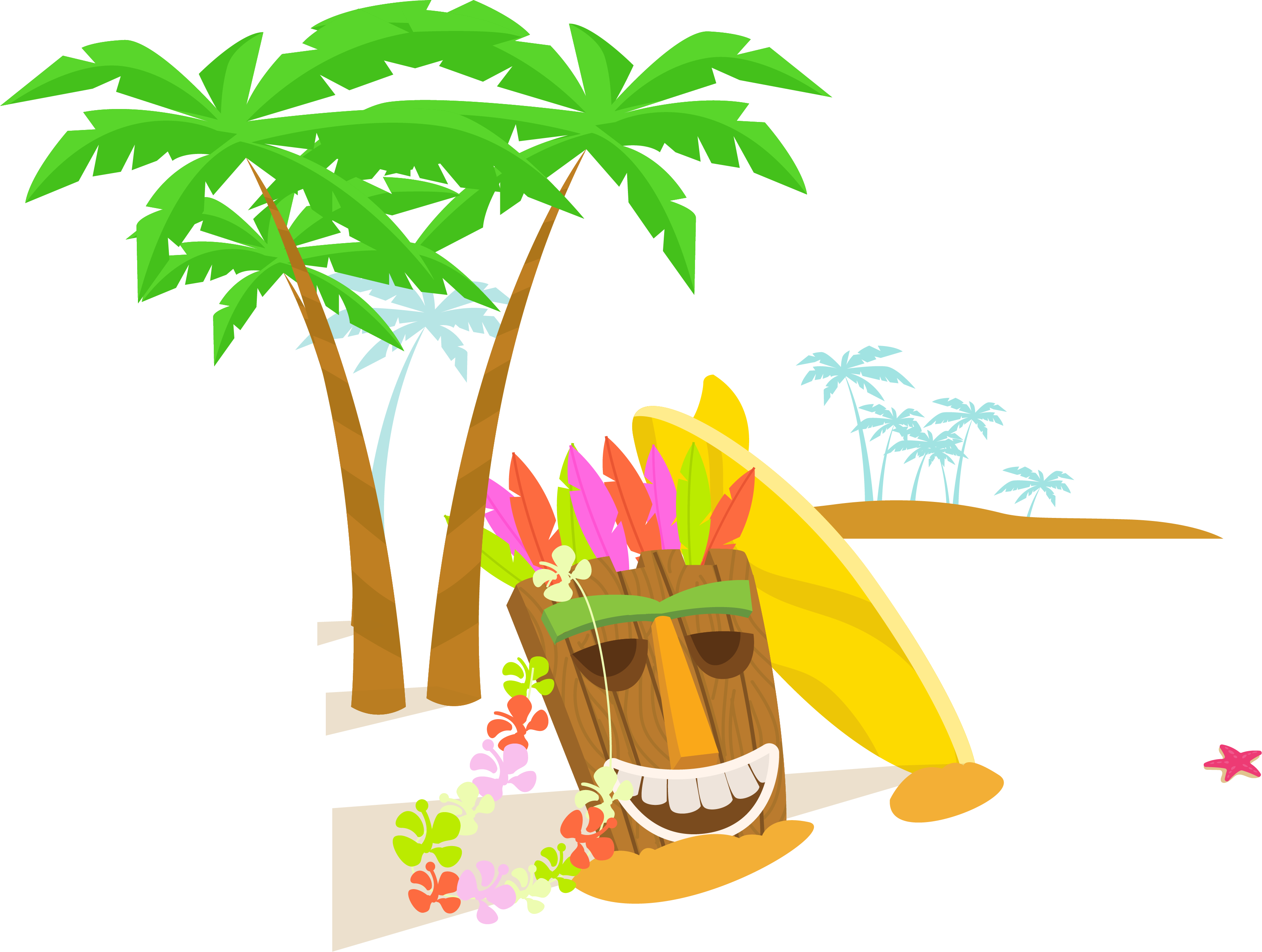 Hawaiian beaches download beautiful. Mango clipart pineapple hawaii