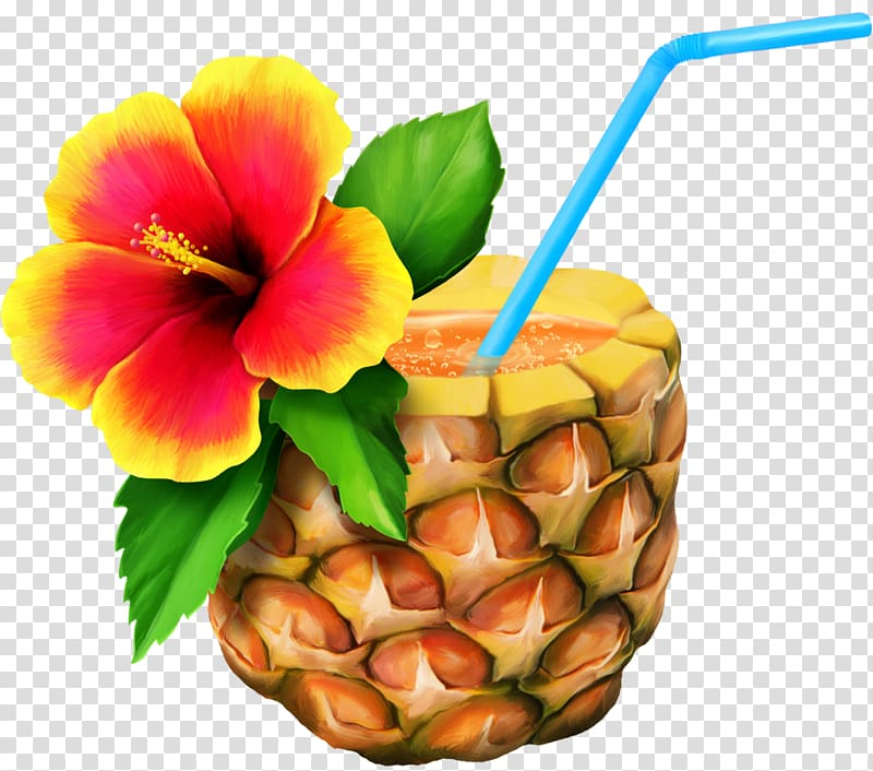 Pineapple with juice cuisine. Hawaiian clipart yellow food