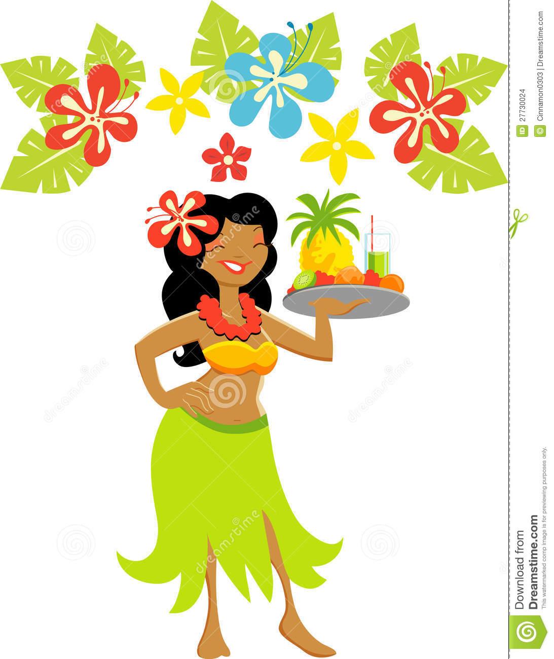 Girl clip art bay. Luau clipart lady hawaiian