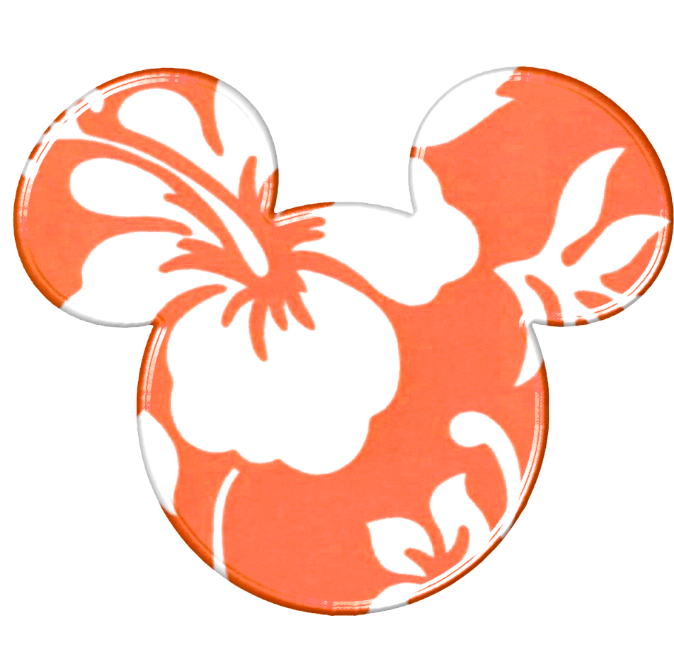 Luau clipart minnie mouse. Mickey heads hawaiian style