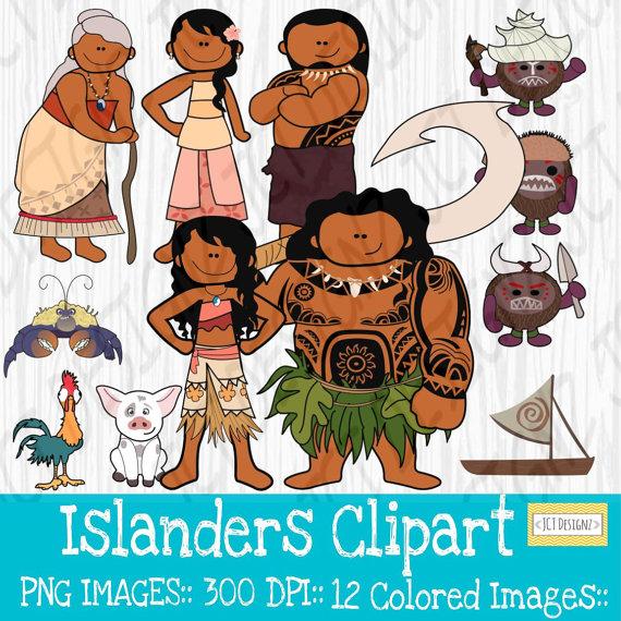 Inspired island . Hawaiian clipart moana