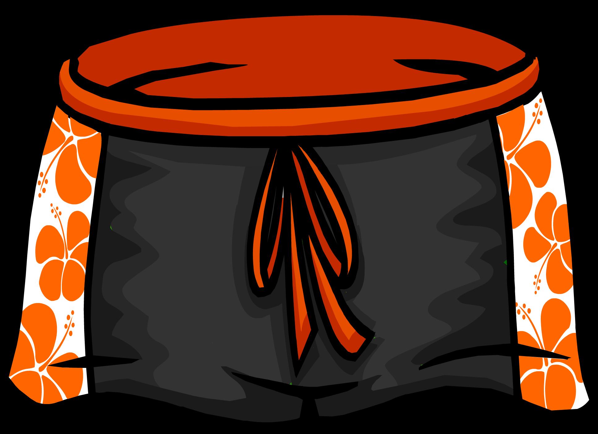 Hawaiian clipart animated. Image black shorts icon