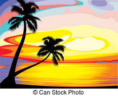 Hawaii clip art library. Sunset clipart hawaiian sunset
