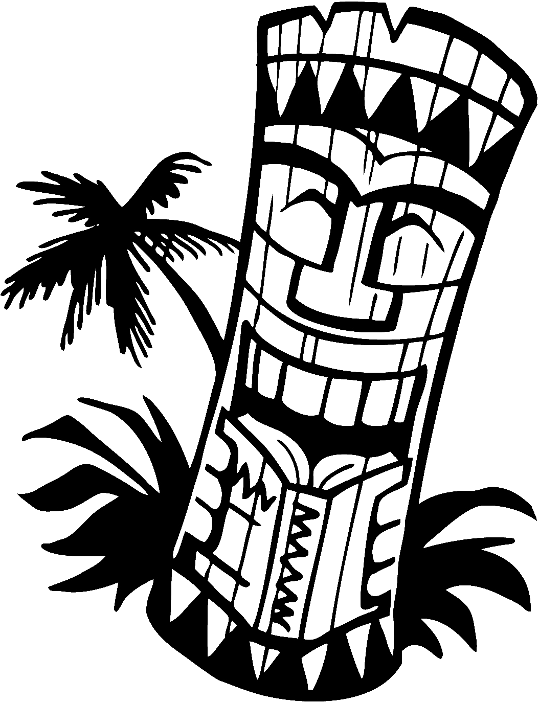 Tiki clipart tiki bar. Happy mask drawings