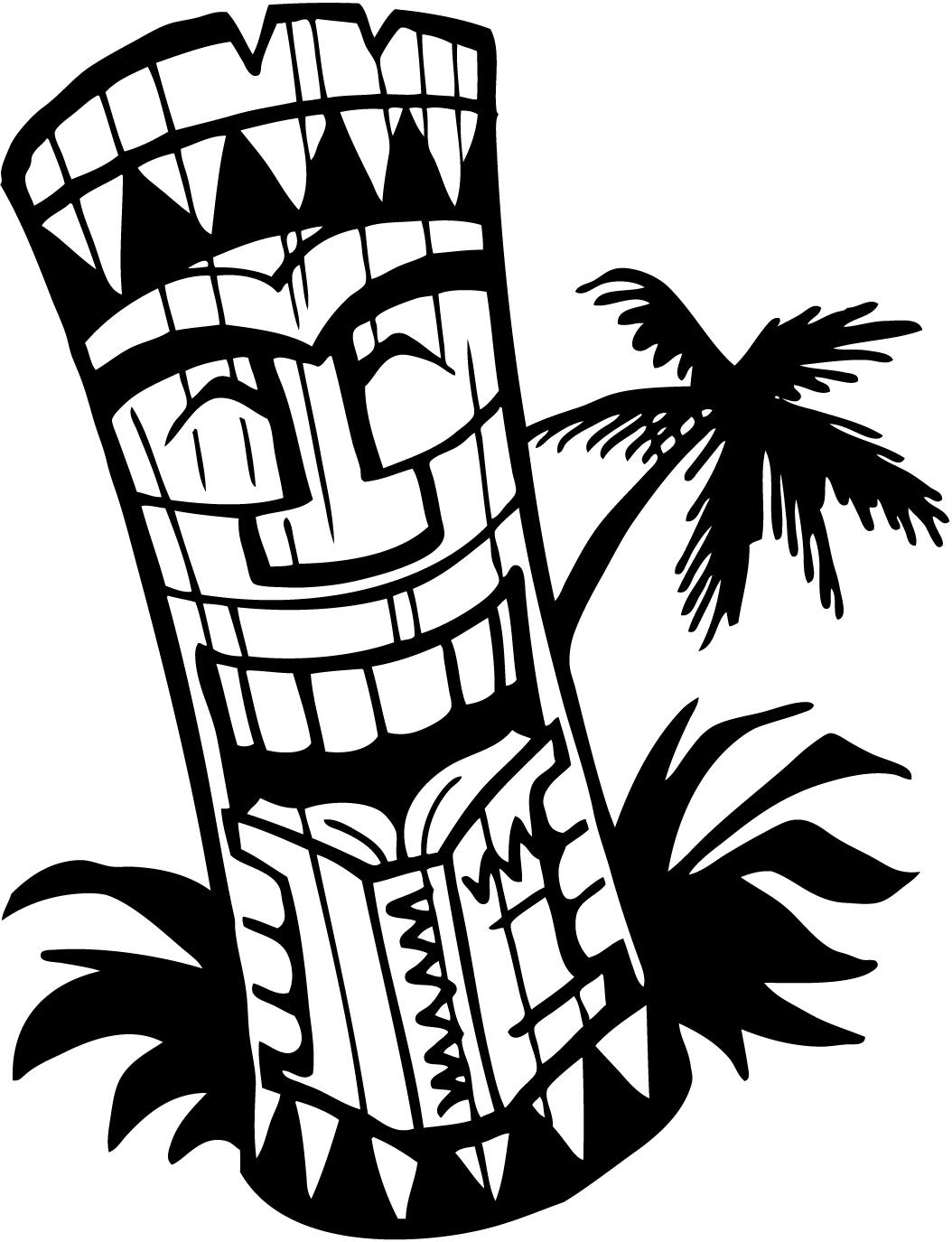Torch clipart survivor. Hawaiian tiki clip art
