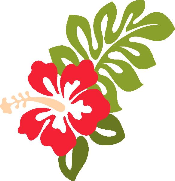 Red clip art at. Hibiscus clipart casava