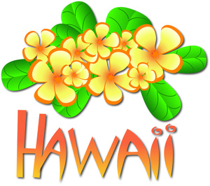 Hawaiian clipart. Hawaii image tropical flowers