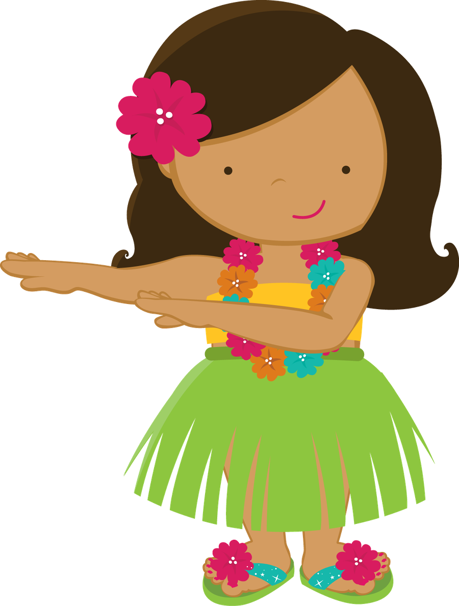 Aloha minus girl drawings. Hawaiian clipart