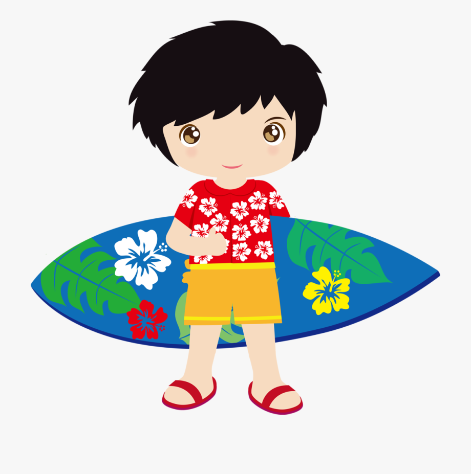 Hawaiian tropical hula ocean. Luau clipart aloha
