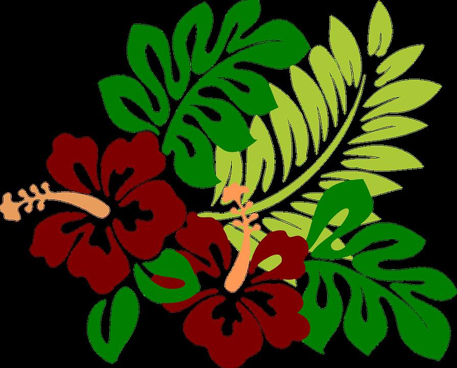 Hibiscus clipart animated. Free hawaiian shop of