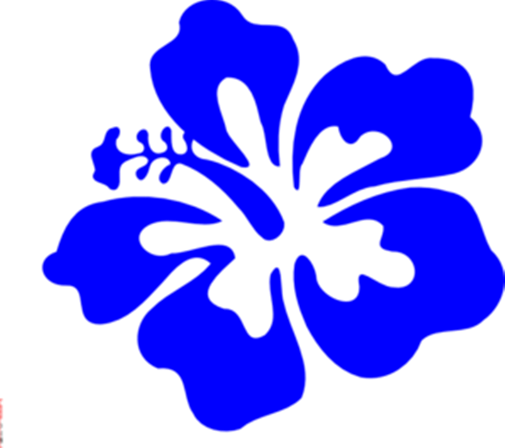 collection of blue. Hawaiian clipart flower crown