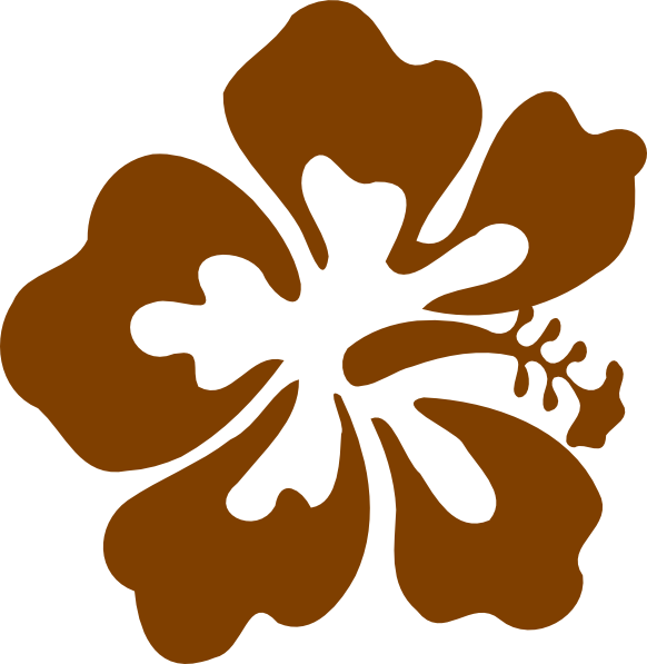 Hibiscus clipart flower real. Brown clip art at